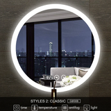 SMART BATHROOM ROUND MIRROR