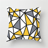 YELLOW GEOMETRY DIAMOND CUSHION COVER COLLECTION