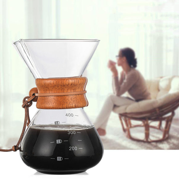 POUR -OVER GLASS CARAFE