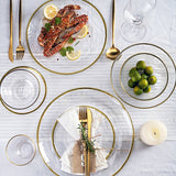 HAMMERED GLASS GOLD DINING COLLECTION