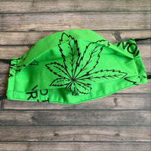 "Load image into Gallery viewer, ""Weed The North"" Fabric Mask"