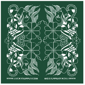 Lucky Supply Bandana - Artwork by Jason Minauro - Green