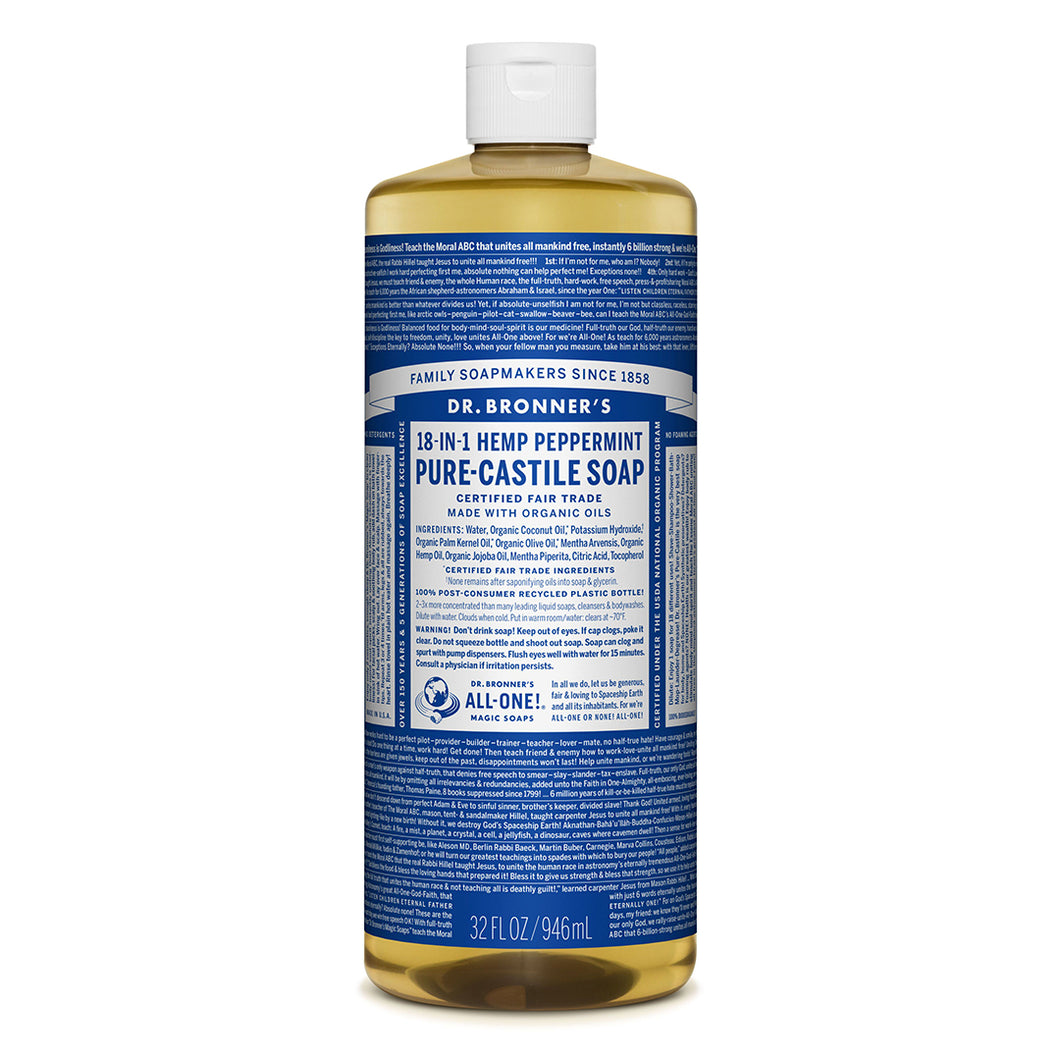 Dr. Bronner's Magic Soaps Peppermint Pure-Castile Soap - 32oz
