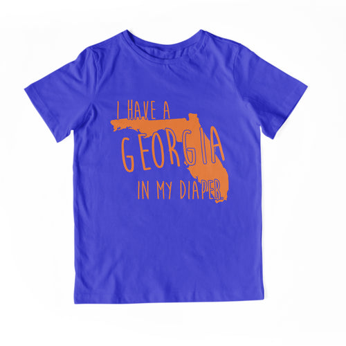 I HAVE A GEORGIA IN MY DIAPER Child Tee