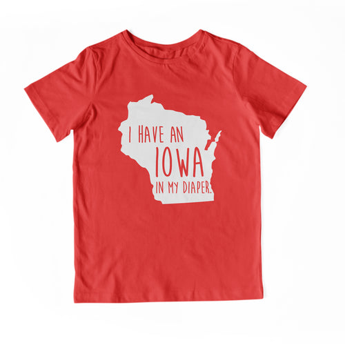 I HAVE AN IOWA IN MY DIAPER Child Tee