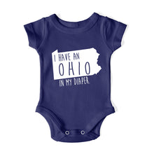 Load image into Gallery viewer, I HAVE AN OHIO IN MY DIAPER Baby One Piece