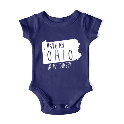 I HAVE AN OHIO IN MY DIAPER Baby One Piece