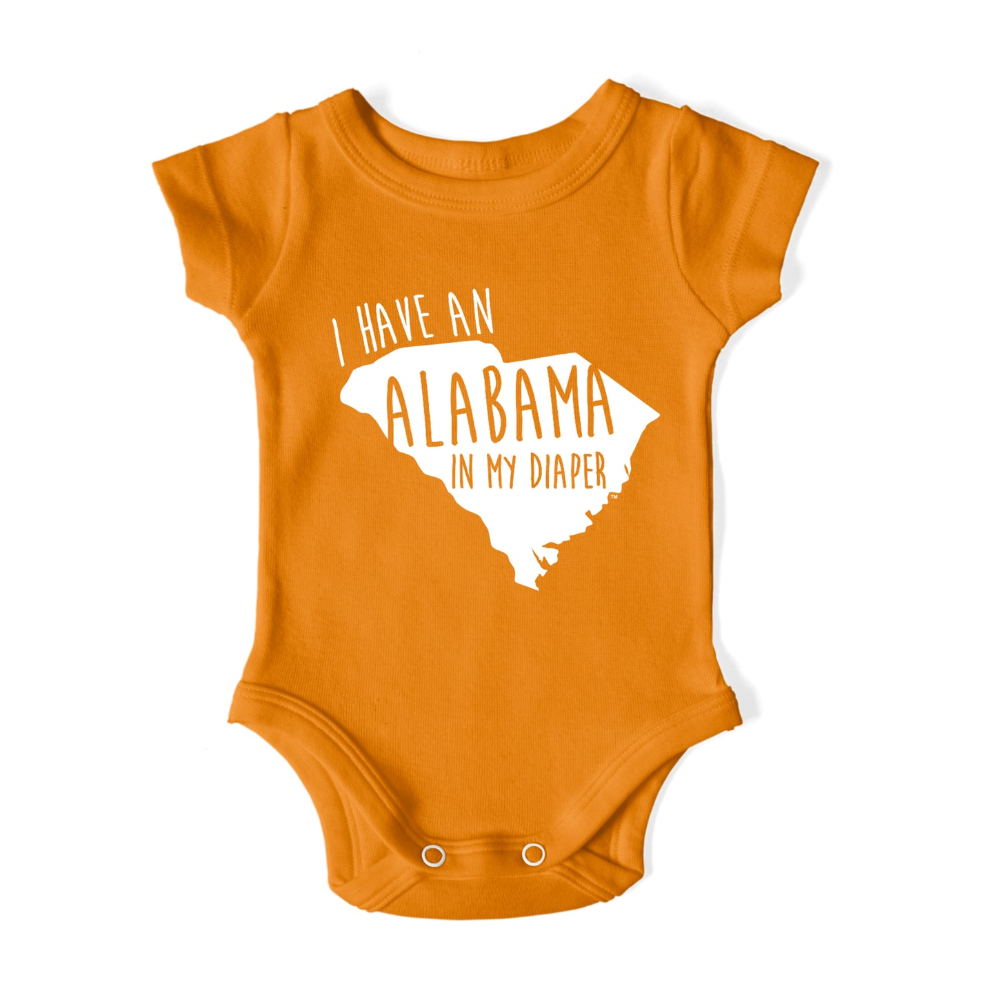 I HAVE AN ALABAMA IN MY DIAPER Baby One Piece