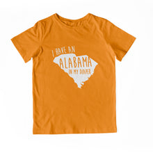 Load image into Gallery viewer, I HAVE AN ALABAMA IN MY DIAPER Child Tee
