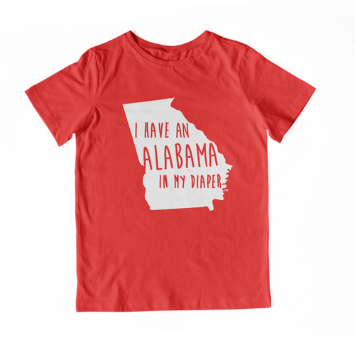 I HAVE AN ALABAMA IN MY DIAPER Child Tee