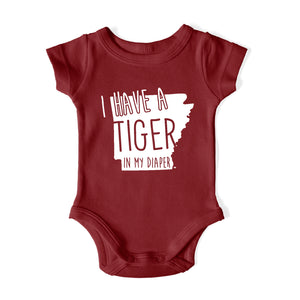 I HAVE A TIGER IN MY DIAPER Baby One Piece