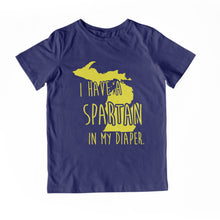 Load image into Gallery viewer, I HAVE A SPARTAN IN MY DIAPER Child Tee