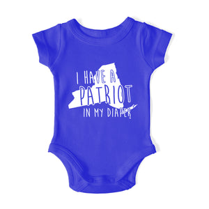 I HAVE A PATRIOT IN MY DIAPER Baby One Piece