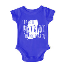 Load image into Gallery viewer, I HAVE A PATRIOT IN MY DIAPER Baby One Piece