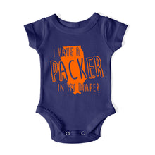Load image into Gallery viewer, I HAVE A PACKER IN MY DIAPER Baby One Piece