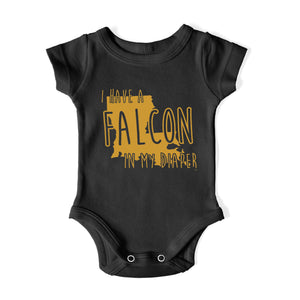 I HAVE A FALCON IN MY DIAPER Baby One Piece