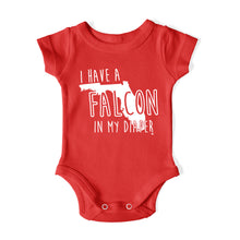 Load image into Gallery viewer, I HAVE A FALCON IN MY DIAPER Baby One Piece