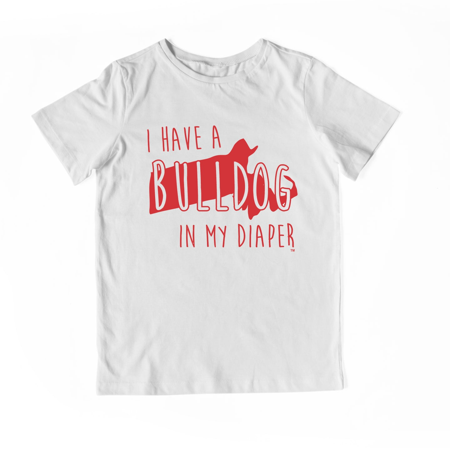 I HAVE A BULLDOG IN MY DIAPER Child Tee