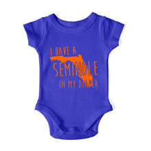 Load image into Gallery viewer, I HAVE A SEMINOLE IN MY DIAPER Baby One Piece