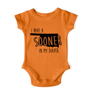I HAVE A SOONER IN MY DIAPER Baby One Piece