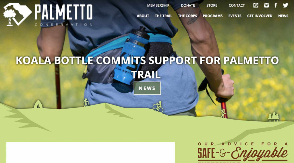 Koala Bottle Commits Support For Palmetto Trail