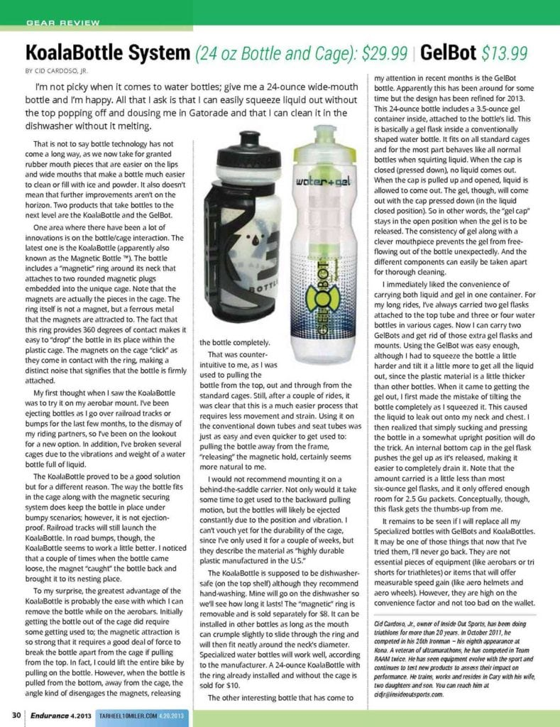 Endurance Magazine Review of Koala Bottle