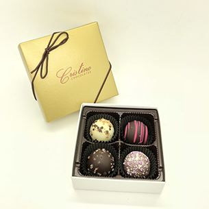 Chocolate Truffle Collection (4 Piece Box)