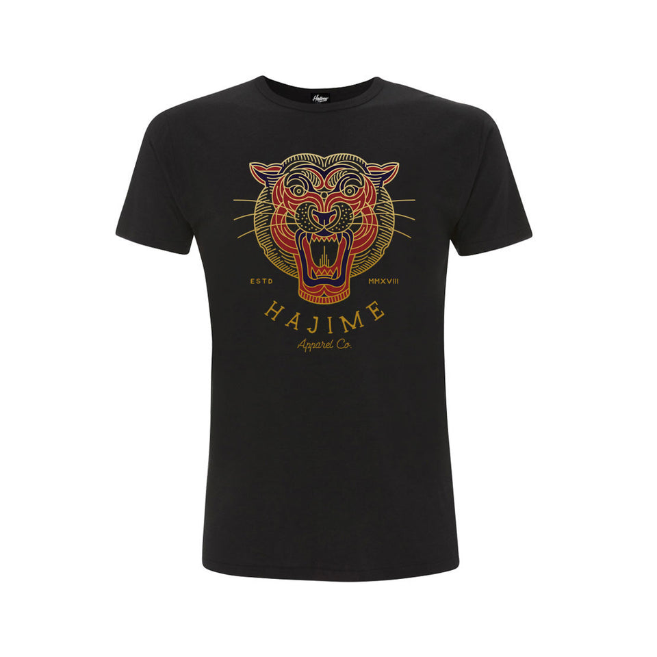 Geo Coloured Tiger Black Tee