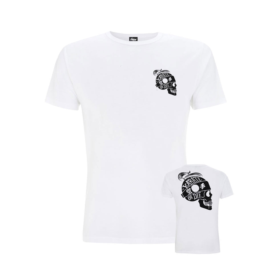 Karate or Die White Tee (Now £12.50)