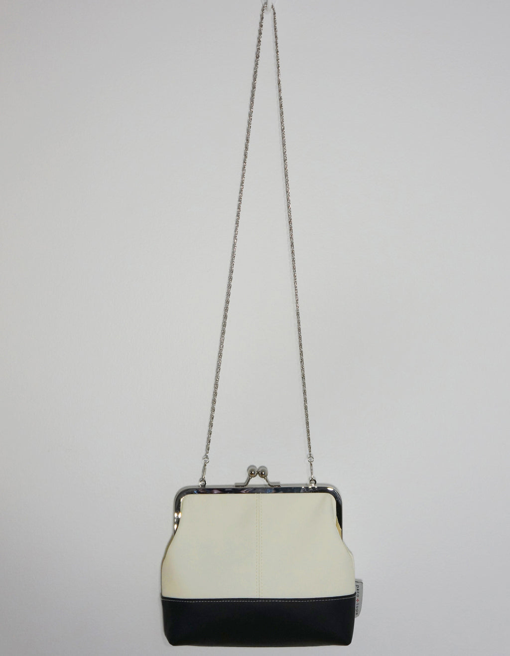 Charlie White Faux Leather Clutch