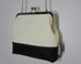 Charlie White Faux Leather Clutch With Black Base