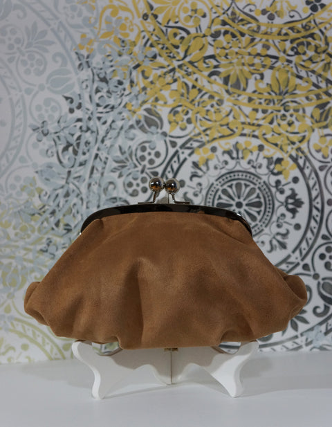 Clothilde Caramel Clutch