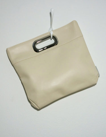 Harley (clutch, cream faux leather)