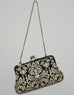 Emilia Clutch Damask Black Front