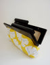 Luisa Ginkgo Clutch Black Wooden Frame