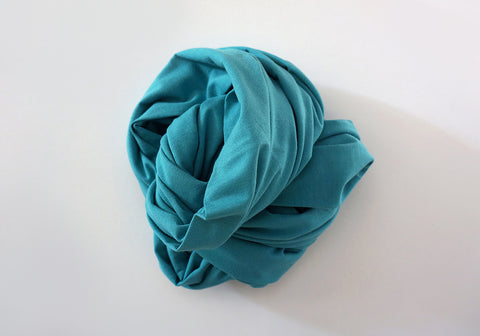 Infinity scarf - Organic Cotton - Turquoise Blue