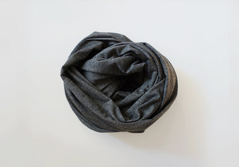 Infinity scarf - Cotton - Dark Heather Grey