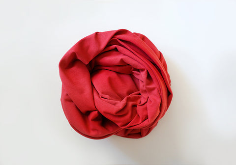 Infinity scarf - Cotton - Deep Coral