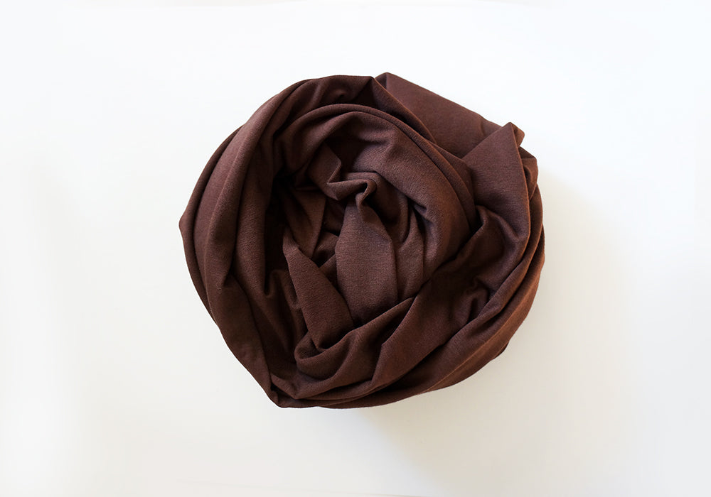 Infinity scarf - Cotton - Chocolate Brown