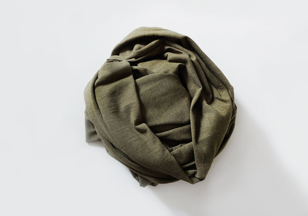 Infinity scarf - Cotton - Olive Green 2-Tone