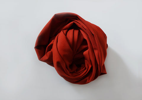 Infinity scarf - Cotton - Marsala Red