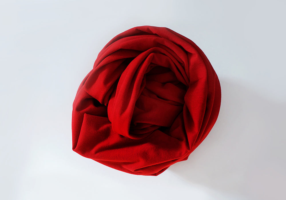 Infinity scarf - Organic Cotton - Red Chili Pepper