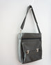 High Flyer Crossbody handbag - mercury grey faux vegan leather - front/side view