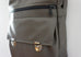 High Flyer Crossbody handbag - mercury grey faux vegan leather - front zippered pocket