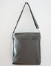 High Flyer Crossbody handbag - mercury grey faux vegan leather - back view