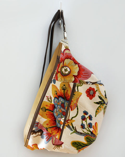 Rush Hour - large sling bag - floral print