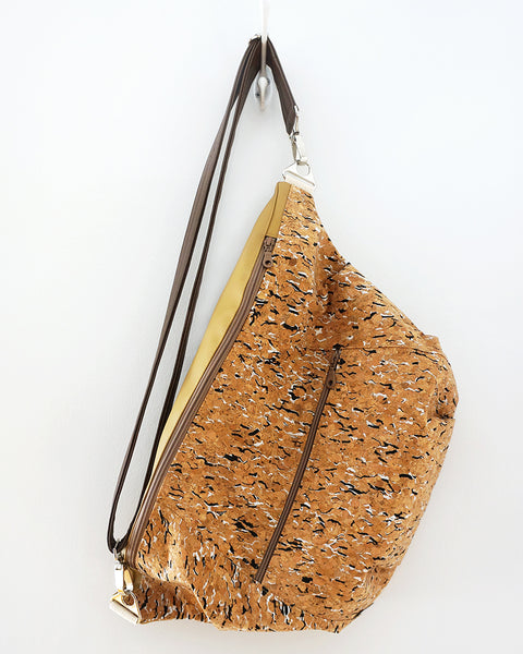Rush Hour - large sling bag - cork fabric