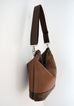 Sofia - basket weave textured vegan leather - boho style slouch bag - SIDE view