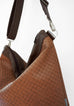 Sofia - basket weave textured vegan leather - boho style slouch bag - ADJUSTABLE STRAP & HARDWARE