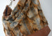 Sofia - vegan fur & leather, light brown coloured - boho style slouch bag - UPCLOSE